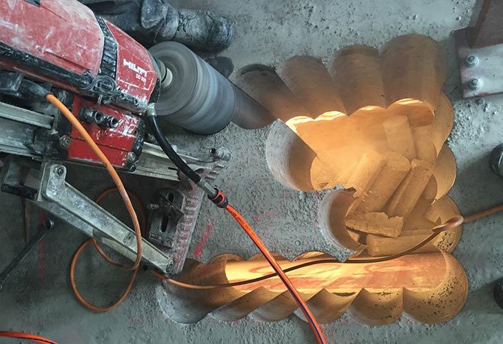 Bušenje betona