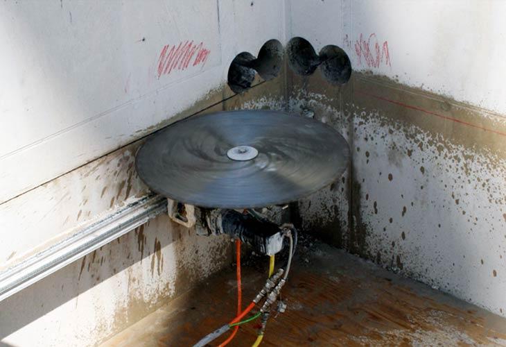 Obrada betona strojevima za dijamantno rezanje i bušenje