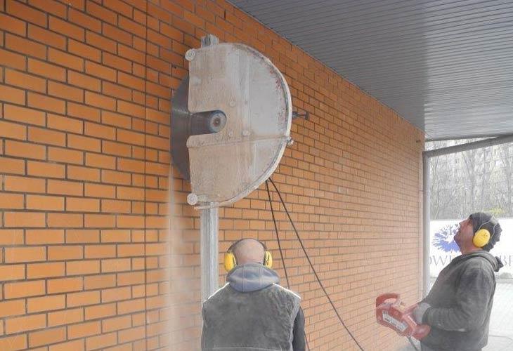 Rezanje zida od cigle