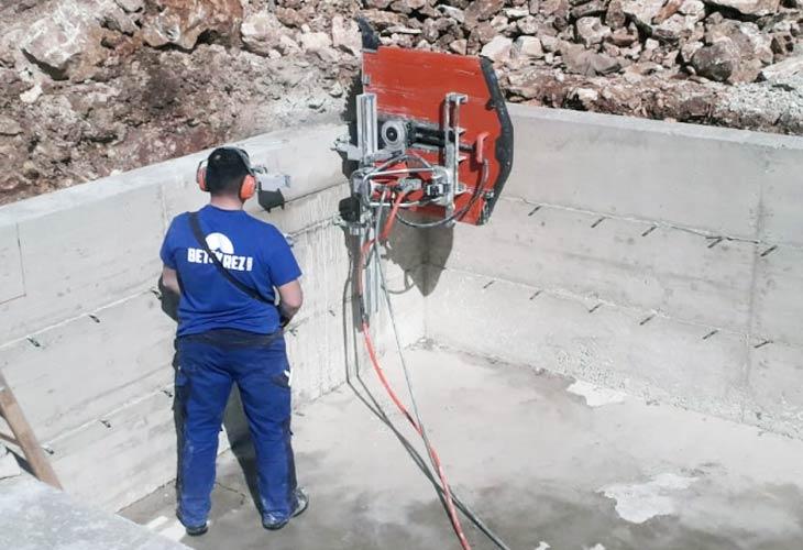 Obrada betona strojevima za dijamantno rezanje betona